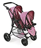Bayer Chic 2000 691 70 Buggy Tándem para muñecas TWINNY, Jeans rosa...