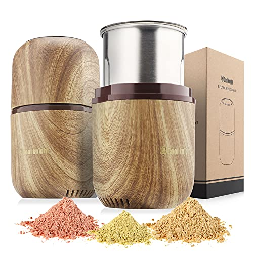 COOL KNIGHT Herb Grinder Electric Spice Grinder [Large Capacity/High Rotating Speed /Electric]--Electric Grinder for Spices and Herbs