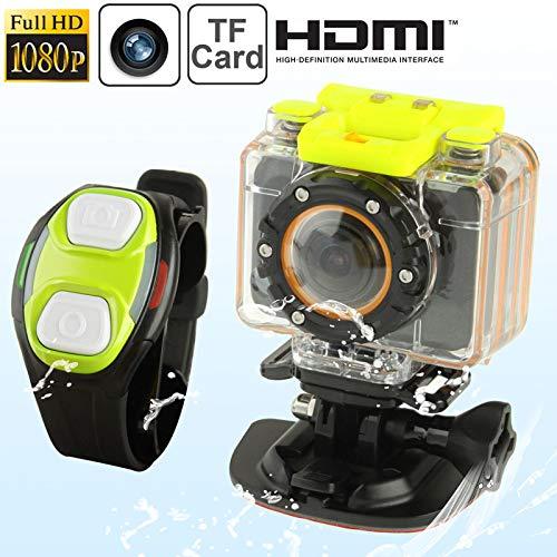 XRQ Action-Kamera Full HD 1080P F20 Sport Camcorder mit Unterwassergehäuse & Trageriemen Fernbedienung, 5,0 Mega CMOS Sensor, 30m wasserdicht for Jungen-Mädchen-Geburtstag