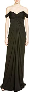 David Meister Women's Jersey Draped Off The Shoulder Formal Gown Black Size 2