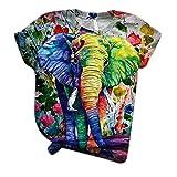 Camiseta de Elefante de Dibujos Animados para...