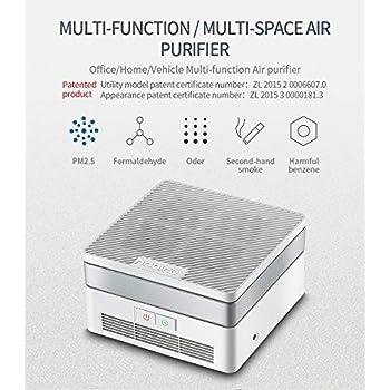 Compacto purificador de aire con UV-C, HEPA y filtros carbón UV ...