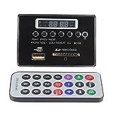 Decodificador de MP3 Placa decodificadora de audio, DC12V Placa decodificadora de MP3 Bluetooth, Módulo de audio USB SD TF Radio FM, para WMA/WAV sin pérdidas(Negro)