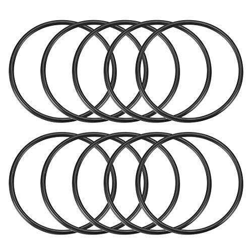 10 Stück 3 mm x 58 mm Gummidichtung Ölfilter O-Ringe Dichtungen Schwarz de