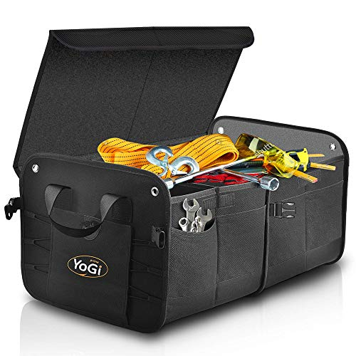 YoGi Prime Trunk and Backseat car Organizer, Trunk Storage Organizer Will Provides You The Most Storage Space Possible, Use It As A Back Seat Storage Car Cargo Organizer Black (Box Black)