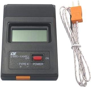 (Aideaz) 高性能 コンパクト 高耐熱 デジタル 温度計 選べる 各種 本体表示は -50℃ から 1300℃ まで (ヒモ状プローブ1本)