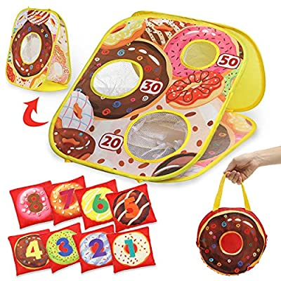 Amazon - 50% Off on Bean Bag Toss Game – Donut Bean Bag Toss Game Set, Collapsible