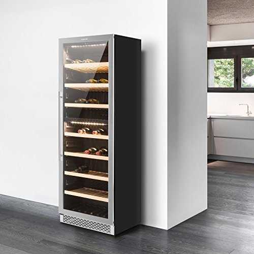 Klarstein Gran Reserva - Weinkühlschrank, Getränkekühlschrank, Gastro Kühlschrank, 2 Zonen, 379...