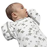 Baby Swaddle Sack with Arms Up, Promotes Sleep, for Newborn Babies 0-6 Months, 8-18 lbs, Arms in/Out Transition Swaddle Sack, Baby Sleep Sack, Organic Cotton