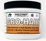 Dogzymes GRO-Hair for Length of Coat or Feathering, Fast Coat Growth or When sparse Coat and/or Bald Spots Need to Fill in.