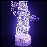 Iluminación infantil nocturna Animación del juego efectos visuales 3D lámpara de luz nocturna decoración de interiores regalo USB lámpara de mesa led regalo de cumpleaños para niños