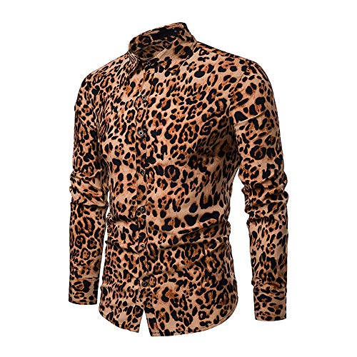 WODENINEK Herenrevers Casual T-shirt met lange mouwen Zomer Nieuwe look Mode Luipaard Europese en Amerikaanse Ontwerp Gentleman Movement T-Shirt Blouse