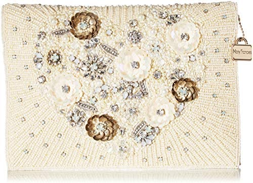 Mary Frances Pure Love Embellished Heart Bridal Crossbody Clutch Handbag Multi product image