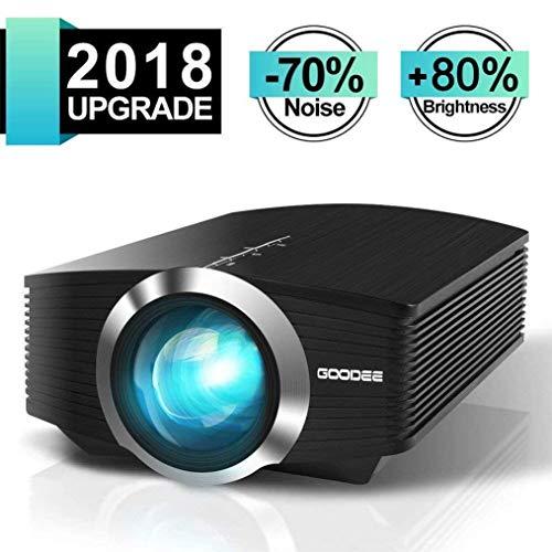 Mini Beamer, GooDee Tragbar LED Projektor,Unterstützt 1080P Kompatibel mit Fire TV Stick