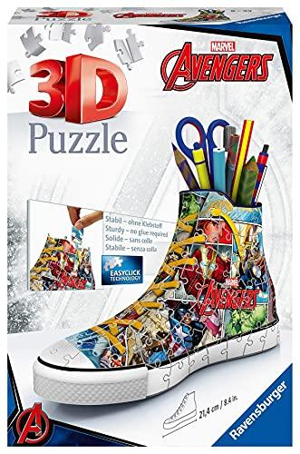 Ravensburger 3D Puzzle Sneaker di Avengers, Portapenne di 108 Pezzi, Età Raccomandata 8+, 12113 7