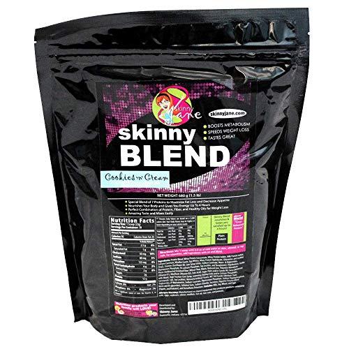 Best Tasting Protein Shake for Women - Lose Weight Slim Down Fast - Weight Loss Supplement - Decrease Appetite - Increase Energy - 30 Shakes per Bag (Cookies 'n' Cream) - Skinny Blend