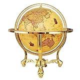 BD.Y Globo, Globo del Mundo Vintage Globo Interactivo para niños Mapa del Mundo Iluminado con Soporte Alto de Metal con brújula Regalo Educativo, Niños, Familia