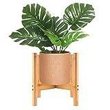 SUNJULY Portavaso per Fiori, Moderno Fioriera Holder Design Nordico bambù Naturale per La...