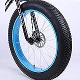 JARONOON 4.0/4.8 Tamaño del neumático Gordo 26 Pulgadas Rueda, Rueda Delantera y Rueda Trasera, con neumáticos internos y externos, sin Horquilla Delantera (Type1 Negro Azul, 4.0)