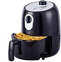 Fryer2L aire, 1000W eléctrico de aire caliente Horno freidoras Oilless Cocina, Precalentamiento y antiadherente Cesta for la rápida saludable comida frita (Color: Blanco) (Color : Black)
