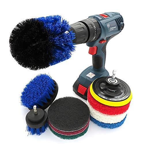 MAATCHH Conjuntos de Limpieza Conjunto de Cepillo de perforación Power Scrubber Kit de Limpieza para lechada, baldosa, baño, Ducha, bañera, Cocina, Coche, Piscina para Limpiar Baño