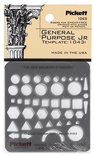 Pickett plantilla Isométrico de llaves de tuercas y Jefes 7, color transparente