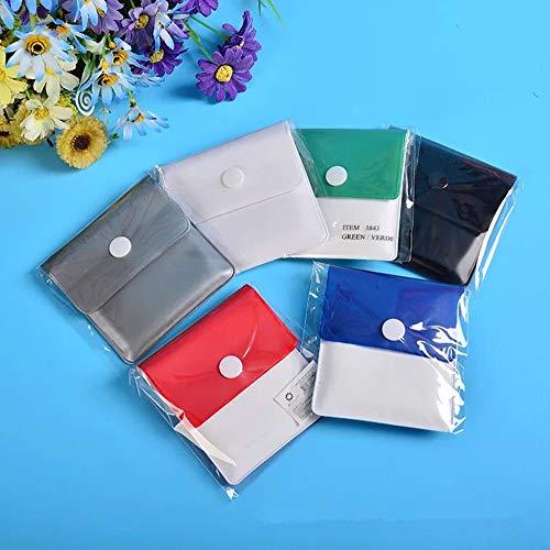 Cendrier de Poche,Portable Pocket Cendriers 6 Pack Réutilisables Poche Etrave Cendres de Cigarette Ash PVC Ignifuge Sans Odeur Muticolor 8.5 * 7.5CM