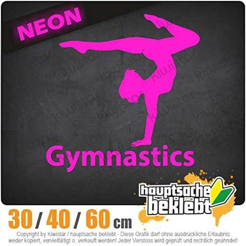 Kiwistar Gymnastics - in 3 Größen erhältlich Heckscheibenaufkleber Carsticker Decal