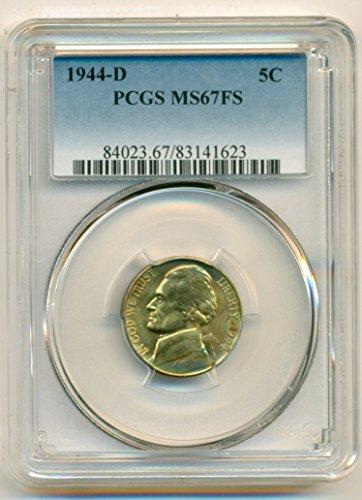 1944 D Jefferson Silver Nickel MS67 FS PCGS