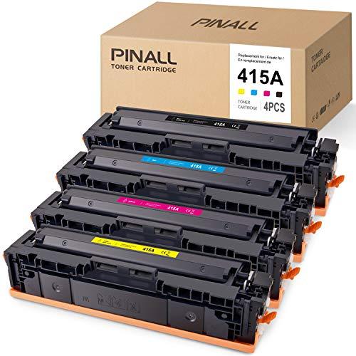 PINALL 4 (NO CHIP) Kompatibel mit HP 415A Toner für HP Color Laserjet Pro MFP m479fdw M479fdn M454dw M454dn M454 Drucker(W2030A/W2031A/W2032A/W2033A)