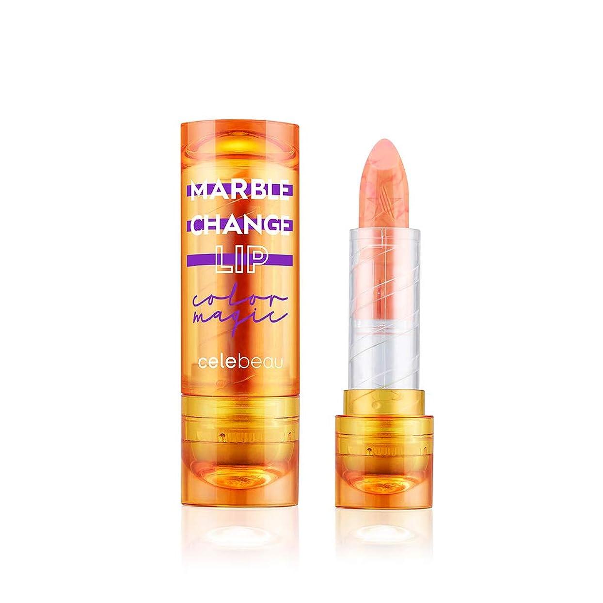 蜜異常な慣れている【celebeau公式】celebeau Marble Change Lip 3.5g/セレビュー マーブル チェンジ リップ 3.5g (03 バーニング オレンジ)
