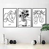 TANYANG Linie Kunst Zeichnung Picasso Leinwand Kunstdrucke