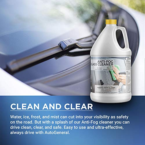 51gK13ndhGL - AutoGeneral - Anti-Fog Glass Cleaner - Ammonia Free Automotive Window and Windshield Cleaner - Spray Concentrate - Antifogging Formula - Industrial Strength - Professional Grade - 1 Gallon Jug