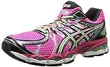 ASICS Women's Gel-Nimbus 16-W, Hot Pink/Green/Black, 5.5 M US