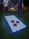 Brightz TossBrightz LED Cornhole Lights for Board and Hole, Blue - 2 String Set for Corn Hole, Bean Bag or Toss Board Games - Heavy Duty Weatherproof Tubing - Diamond-Bright LEDs