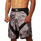 LEONE 1947 AB793 Pantalones Cortos de MMA, Unisex – Adulto, Gris, L