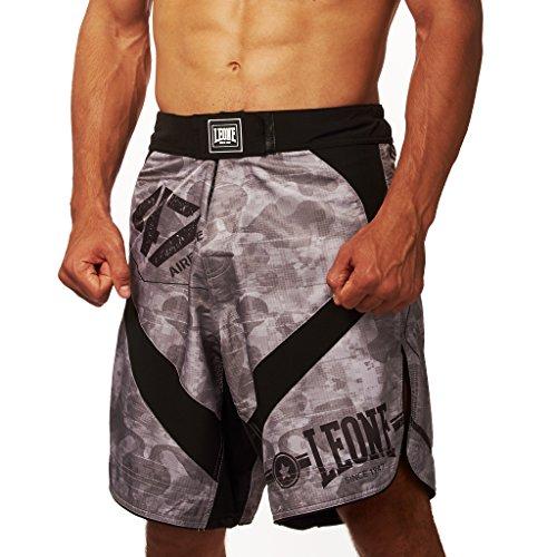 Leone 1947 AB793 Pantalones Cortos de MMA, Unisex – Adulto, Gris, S