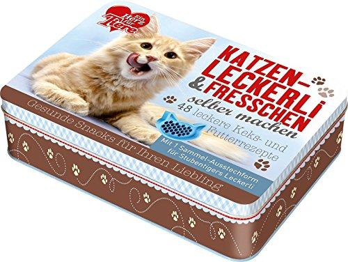 """""""Ein Herz für Tiere""""- Katzenleckerli & Fresschen selber machen: 48 leckere Keks- und Futterrezepte. Rezeptkarten mit 1 Sammel-Ausstechform für Stubentigers Leckerli"""