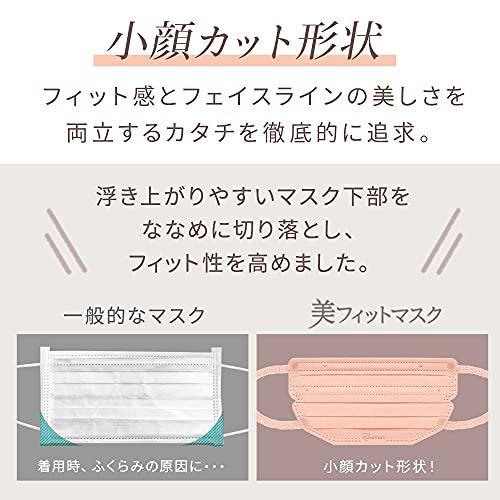 【5個セット】アイリスオーヤママスク美フィットマスク不織布ふつうサイズ個包装7枚入PK-BFC7MPBピンクベージュ