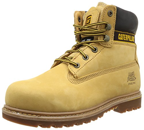 Cat Footwear Holton, Stivali Uomo, Marrone Jaune Honey, 40 EU