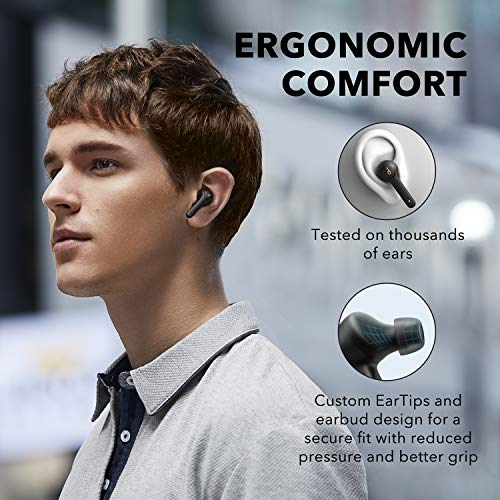 Anker Soundcore Life P2 True Wireless Earbuds with 4 Microphones, cVc 8.0 Noise Reduction, Graphene Drivers for Clear Sound, USB C, 40H Playtime, IPX7 Waterproof, Wireless Earphones for Work, Travel
