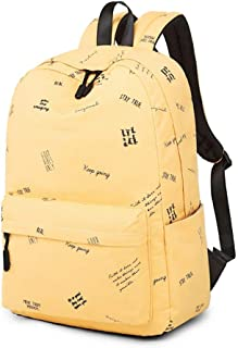 MYXMY College Student Bag Female Canvas Backpack Simple Personality Large Capacity Korean Version of Harajuku Literary Small Fresh Harbor Wind Backpack (Color : C)