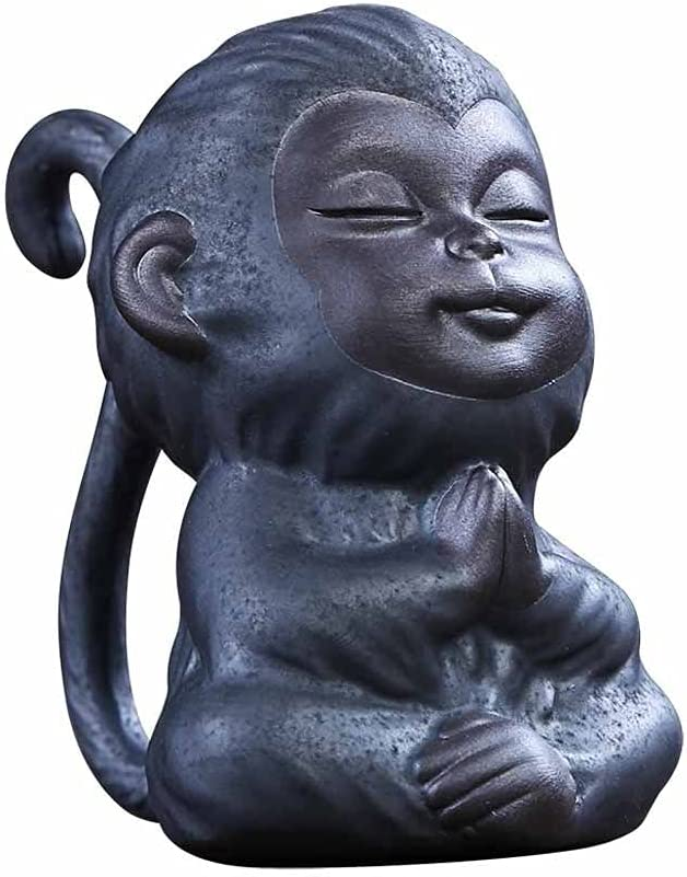 JJSPP Little Monkey Tea Pet Ornaments Retro Can Be Raised Cerami