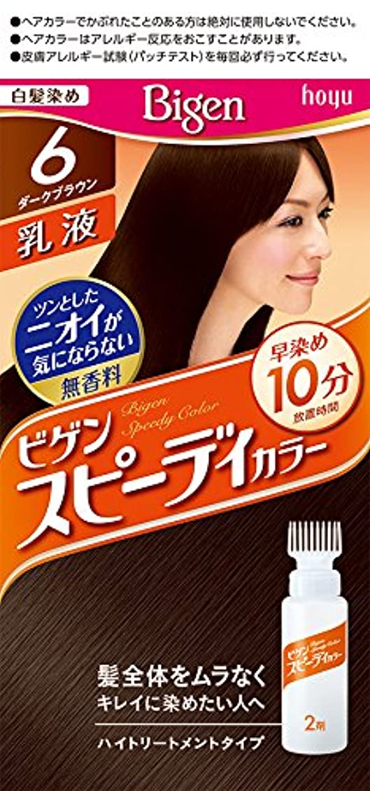 電球パイル動ホーユー ビゲン スピィーディーカラー 乳液 6 (ダークブラウン) 1剤40g+2剤60mL