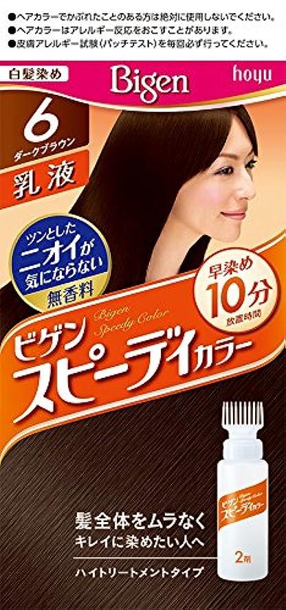 方言サロン風が強いホーユー ビゲン スピィーディーカラー 乳液 6 (ダークブラウン) 1剤40g+2剤60mL