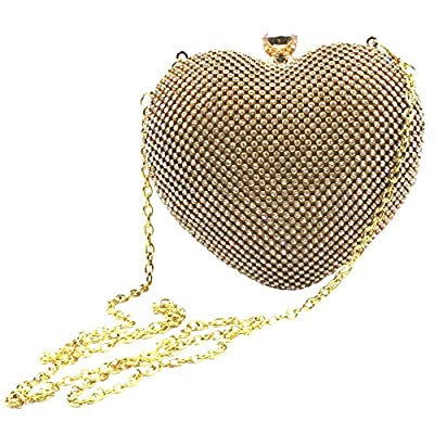 Abbie Home Heart Shaped Evening Bag Wedding Party Crystal Bridal Clutch