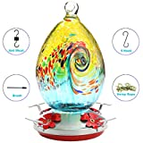 N/A. Premium Hummingbird Feeder for Outdoors,Glass Brand Humming Bird Feeders, Best Color with Hand Blown Glass Bird Feeder, Leakproof 30 Ounces,Easy to Clean & Filling,Give Hook&Ant Moat.