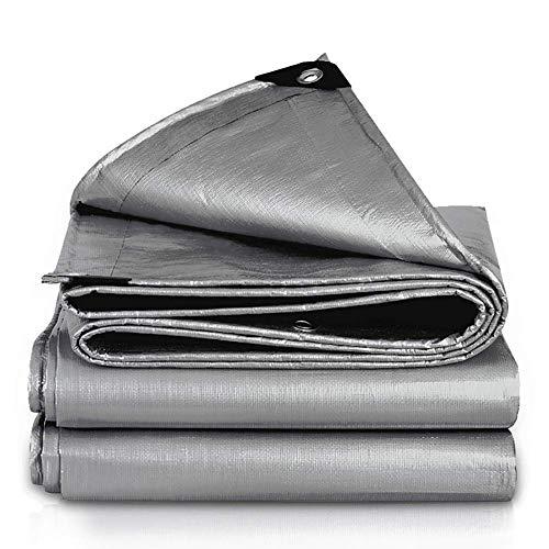 Buitenisolatie van kunststof, voor voortent, luifels, waterdicht, voor zonnezeil, zilvergrijs (grootte: 4 × 6 m) 4×8m