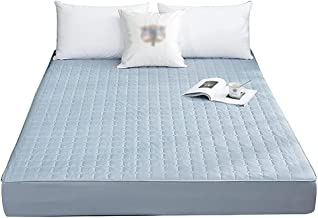 Waterproof Quilted Mattress Topper Made with Soft Fluffy Microfibre and Elasticized Corner Straps for Comfort and Luxury (...