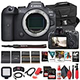 Canon EOS R6 Mirrorless Digital Camera (Body Only) 4082C002 + 2 x 64GB Memory Card + Case + Corel Software + 3 x LPE6 Battery + External Charger + Card Reader + LED Light + HDMI Cable + More (Renewed)